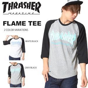 半袖 Tシャツ THRASHER スラッシャー メンズ FLAME フレイム ロゴ プリント TEE シャツ スケーター 2017秋新作 elephantsports