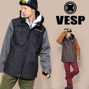 スノーボードウェア VESP ベスプ THREEWAY MILITARY JACKET メンズ VPMJ16-01 3way ジャケット  スノーボード  30%off elephantsports