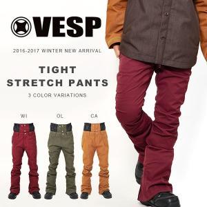 スノーボードウェア VESP ベスプ TIGHT STRETCH PANTS メンズ VPMP16-04S パンツ  ボトムス メンズ レディース 25%off|elephantsports