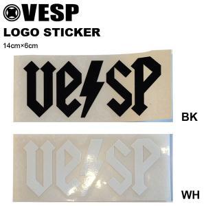 ゆうパケット対応可能! ステッカー VESP ベスプ VPMST16-02 カッティングシート ロゴ スノーボード スノボ スケートボード 14cm×6cm elephantsports