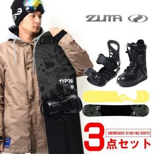 現品のみ!! ZUMA ツマ スノーボード メンズ 3点セット 板 ボード 153  バインディング ブーツ 28.0cm TYPOS   国内正規代理店品|elephantsports
