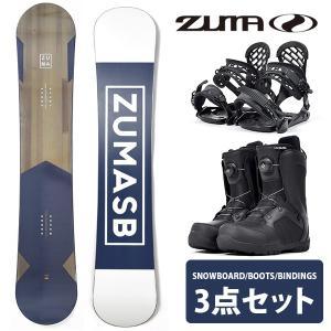 ZUMA ツマ スノーボード メンズ 3点セット 板 ボード バインディング ブーツ BOX ボックス 150 153 158 スノボ  キャンバー 2019-2020冬新作 送料無料|elephantsports