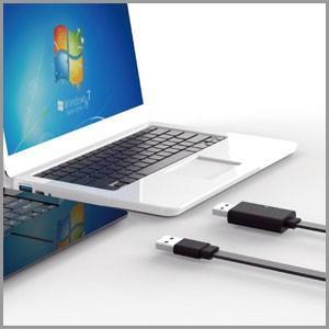 【受発注】ネットワーク接続不要で2台のパソコンを接続。ドラッグアンドドロップ、コピーアンドペーストも...