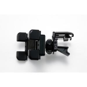【M-ST-037】スマートフォン・携帯電話 エアコンルーバー(エアコン吹き出し口) 車載ホルダー/車載スタンド/カーマウント/車載用マウント|eleworks-store