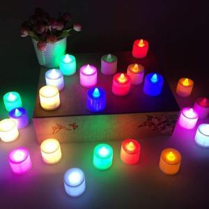 LED キャンドルライト 24個セット 電池付き クリスマス 電池ろうそく 無香料 ティーライト 波...