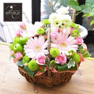 生花 お供え用、プレゼント用にも プードル付アレンジメント お花の延命剤付 贈り物 ペット|elfleur