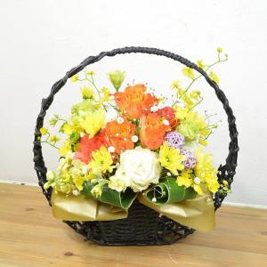 和風アレンジメント 月華(げっか) お花の延命剤付 傘寿 米寿 祝い 誕生日 プレゼント 生花 アレンジフラワー ギフト 花 elfleur