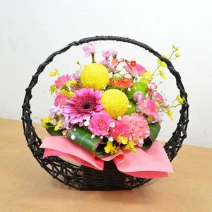 ひな祭り限定 和風アレンジメント プレゼント 生花 アレンジフラワー ギフト 花|elfleur
