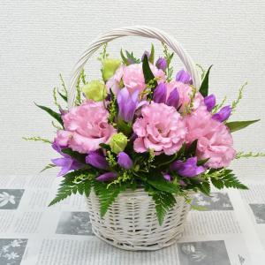 生花 リンドウ&トルコキキョウ ピンクカラーアレンジメント プレゼント フラワーギフト 花 贈り物|elfleur