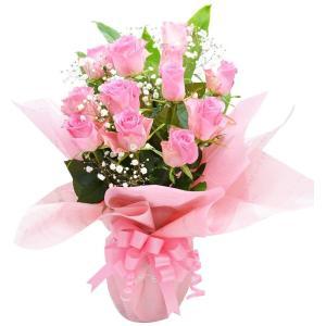 ピンクバラ ボリュームスタンディングブーケ 花束 プレゼント 贈り物 バラ アレンジ|elfleur