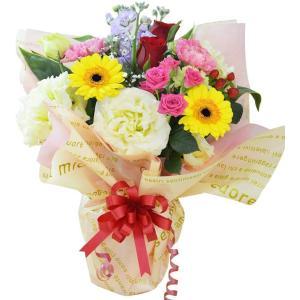 ボリュームスタンディングブーケ ミックス 花束 プレゼント 贈り物 バラ アレンジ|elfleur