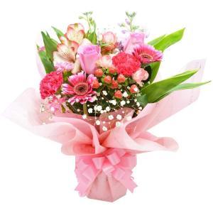 ボリュームスタンディングブーケ ピンク 花束 プレゼント 贈り物 バラ アレンジ|elfleur