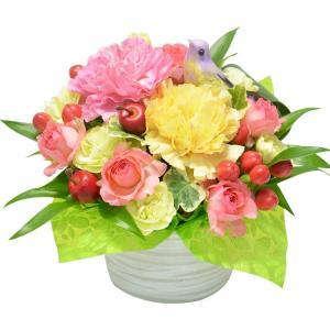 ガーベラ・カーネーションが選べる アレンジメント お花の延命剤付 花 ギフト 贈り物 プレゼント 母の日 2021|elfleur