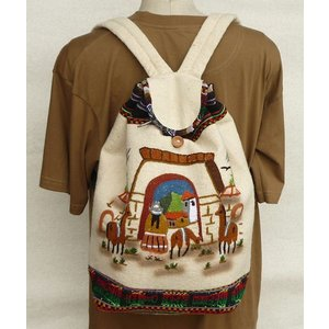 AB-011-01マンタ ディバッグ アンデス風景 刺繍柄 民族織物|elgusto