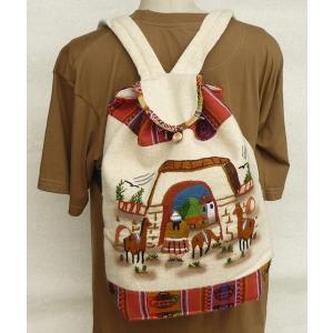 AB-011-02 マンタ ディバッグ アンデス風景 刺繍柄 民族織物|elgusto