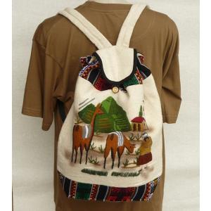 AB-011-03 マンタ ディバッグ アンデス風景 刺繍柄 民族織物|elgusto