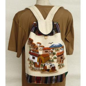 AB-011-04 マンタ ディバッグ アンデス風景 刺繍柄 民族織物|elgusto