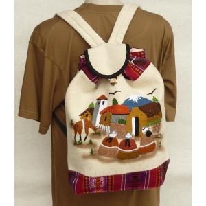 AB-011-05 マンタ ディバッグ アンデス風景 刺繍柄 民族織物|elgusto