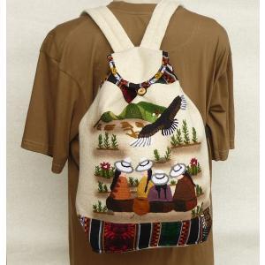 AB-011-06 マンタ ディバッグ アンデス風景 刺繍柄 民族織物|elgusto