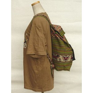 AB-031-M06 デイバッグ マンタ 民族織物 インカ柄 アルパカ柄 インディオ柄|elgusto
