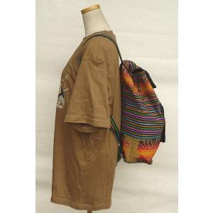 AB-031-M07 デイバッグ マンタ 民族織物 インカ柄 アルパカ柄 インディオ柄|elgusto
