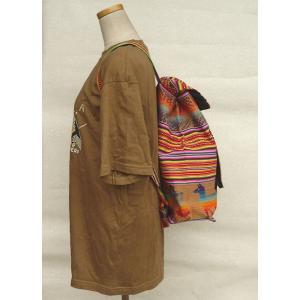 AB-031-M08 デイバッグ マンタ 民族織物 インカ柄 アルパカ柄 インディオ柄|elgusto
