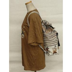 AB-031-M10 デイバッグ マンタ 民族織物 インカ柄 アルパカ柄 インディオ柄|elgusto
