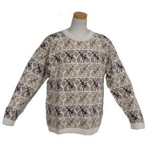 ALC-008-2 アウトレット 安価 アルパカ100%セーター ナスカ柄 コンドル柄 男性 丸首 暖かい|elgusto