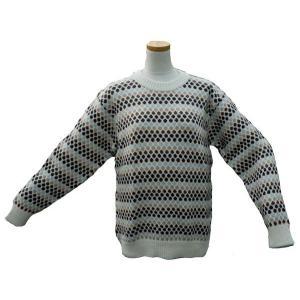 ALC-029-1 アルパカ100%セーター 男性 丸首 伝統柄 水玉柄 暖かい|elgusto