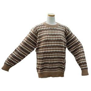 ALC-029-2 アルパカ100%セーター 男性 丸首 伝統柄 水玉柄 暖かい|elgusto
