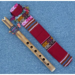 QUENA-X07  ケーナ 竹製 民族楽器 フォルクローレ楽器 ペルー アンデス 入門用|elgusto