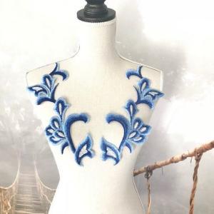 モチーフ セット キラキラ ペア フェザー ダンス 衣装 装飾 ハンドメイド