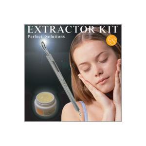 エクストラクターセット(美容整形や皮膚科で、毛穴の黒ズミや角栓を取るのに大活躍しているスティック♪)|elise