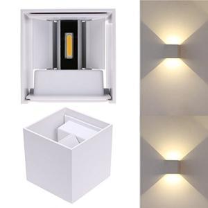 Lightess LED 玄関ライト ブラケットライト led ウォールライト アウトドア 室外照明 壁掛け照明 防雨型 6W 高輝度 省エネ ホワイ|ellies-os