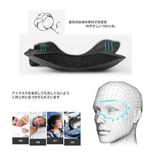 2枚セットアイマスク 安眠 立体型 longzon 睡眠 昼寝 旅行 遮光 軽量 軽い 眼精疲労 疲労回復 圧迫感なし 耳栓付き|ellies-os