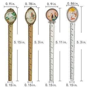 サイズ:長さ約12.98-13.5cm、幅約1.9-2.2cmで、レトロ風な金属とガラス素材で作られ...
