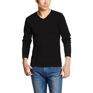 アヴィレックス  AVIREX DAILY V-NECK LS TEE 6153480 09BLACK ブラック L Tシャツ|ellies-os