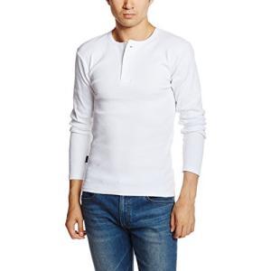 アヴィレックス  AVIREX DAILY HENLEYNECK LS TEE 6153482 01WHITE ホワイト M Tシャツ|ellies-os