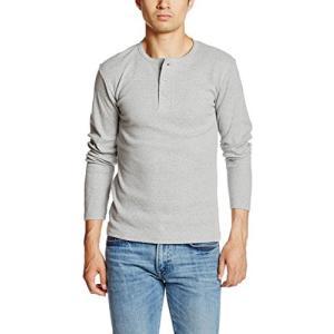 アヴィレックス  AVIREX DAILY HENLEYNECK LS TEE 6153482 14GREY グレー M Tシャツ|ellies-os