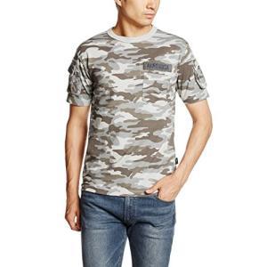 アヴィレックス  AVIREX S/S CAMO FATIGUE TEE 6143387 06SAND SAND XL Tシャツ|ellies-os