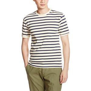 アヴィレックス  AVIREX DAILY CREW NECK BORDER TEE 6163371 02WHT ホワイト M Tシャツ|ellies-os