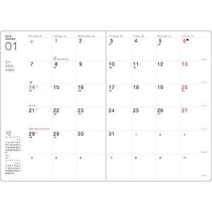 【サイズ】縦188×横134×厚さ11mm 【レイアウト】月間ブロック+週間ブロック 月曜始まり 【...