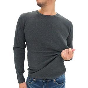 アヴィレックス  AVIREX Tシャツ メンズ ブランド 長袖 クルーネック 無地 リブ 秋 4color S チャコール|ellies-os