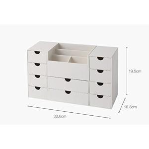 KINGZUO 収納ボックス 引き出し式 メイクボックス 卓上小物入れ リビングポスト 小物トレー 卓上収納ケース デスクオーガナイザー ペン立て リ|ellies-os