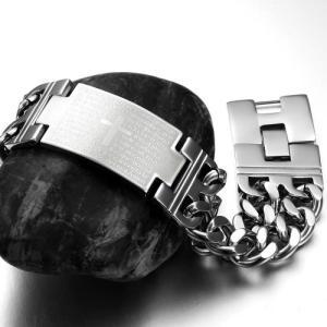 メンズブレスレットステンレス製 バングル幅広 ファション 銀クロスブレスレット ウォッチ ベルトStyle ステンレス 腕輪バングル聖書欧米風しの商品画像|ナビ