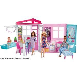 Toy バービー かわいいピンクのプールハウス FXG55 マテル(MATTEL) FXG55