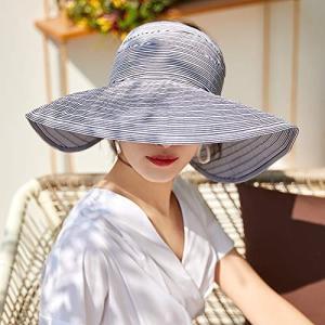 Apparel uvカット帽子 レディース 日よけ帽子 つば広 ハット 日除け防止 日焼け止め 紫外...