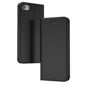 スマホケース 手帳型 iPhone7 iphone8 ケース 耐衝撃 カード収納 薄型 軽量 Qi充電対応 マグネット カバー スタンド機能搭載 高級PUレザー(i8case) elsies
