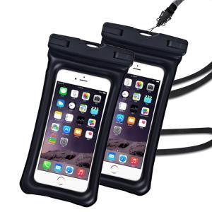 (2枚)防水ケース 水に浮くスマホ用 IPX8 完全防水 防水カバー  水中撮影 海 プール スノボ スキー アイフォン iPhone Android galaxy Huawei ケース(S-FSD-PF-2) elsies