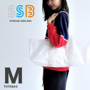 SSB エスエスビー トートバッグ Mサイズ バッグ ショッパーバッグ ショッピング袋  透明 エコバッグ スタディーバッグ レディース メンズ SSB-102 elva